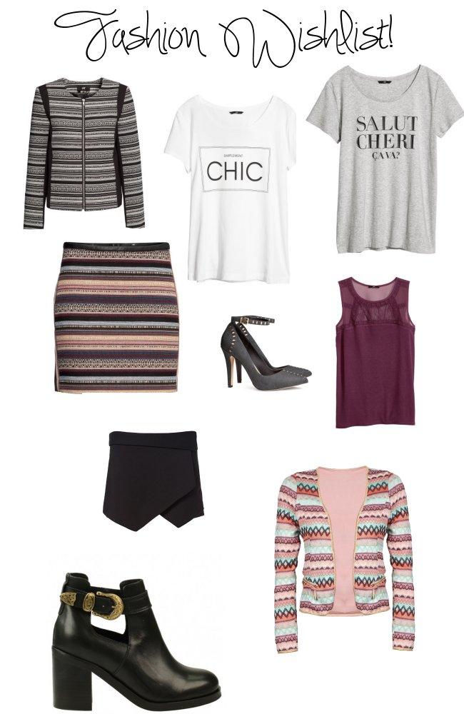 Wishlist: H&M, Zara, Sasha & Loavies !