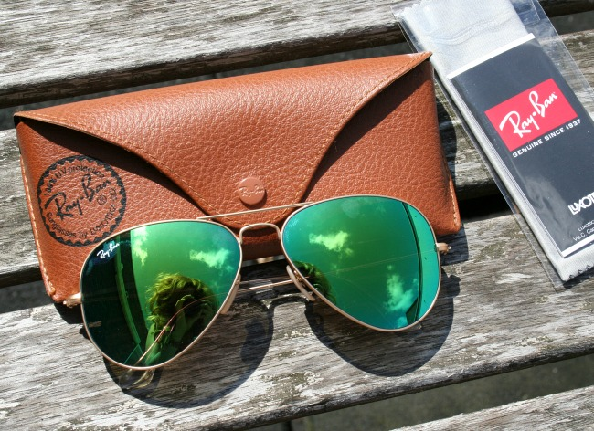 New In: RayBan Aviator 3025 Green Mirror