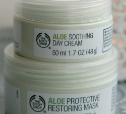 The Body Shop – Aloe Soothing Day Cream & Aloe Protective Restoring Mask