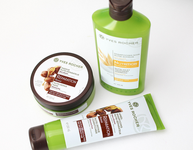 Yves Rocher Nutrition Shampoo, Réparation Conditioner & Haarmasker