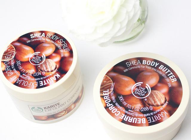 The Body Shop – Shea Body Scrub & Shea Body Butter