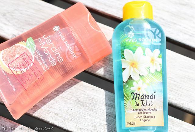 Yves Rocher Monoï de Tahiti Douche Shampoo & Jardins du Monde Showergel