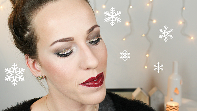 Golden Glitters Christmas Make-up Tutorial