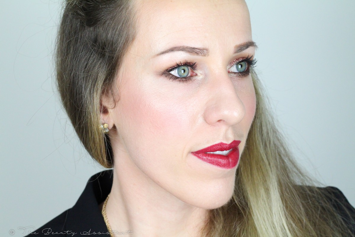 Kerst make-up look: Cranberry & Glitters