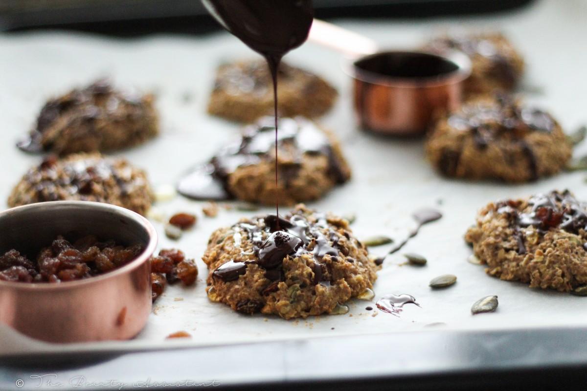 havermout koekjes met pure chocolade