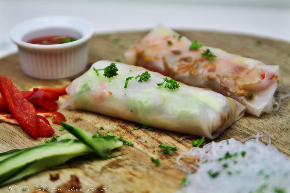 Recept: Spring Rolls met Kip en Garnalen