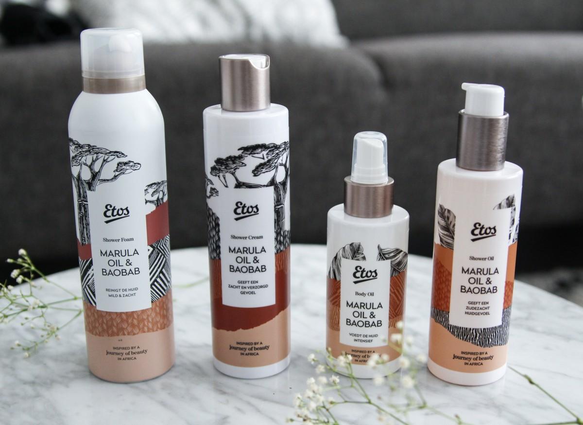 Etos Journey of Beauty Marula oil & Baobab lijn