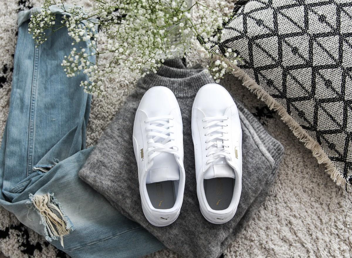 Nieuwe witte sneakers van Puma