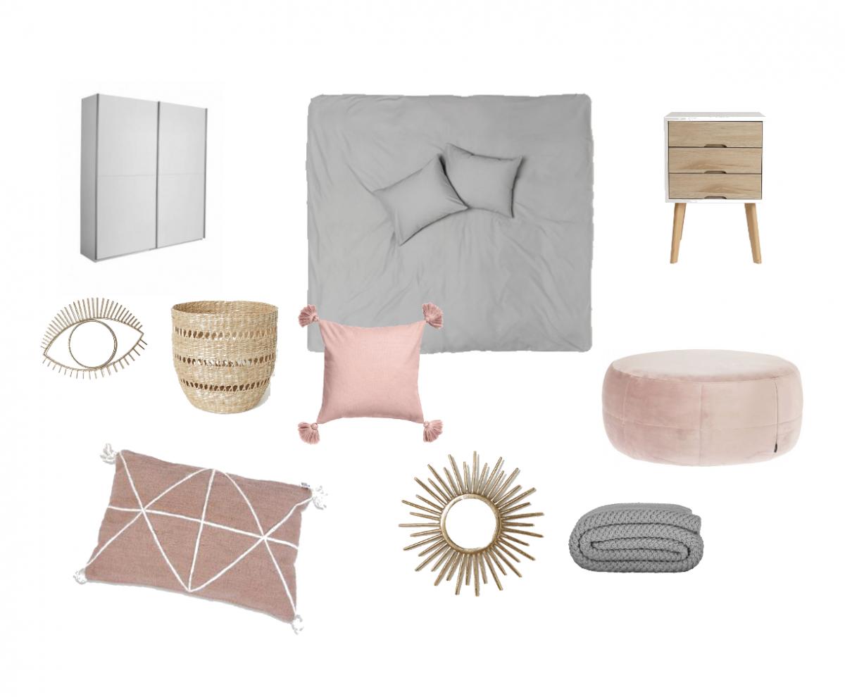 Een vleugje roze in de slaapkamer